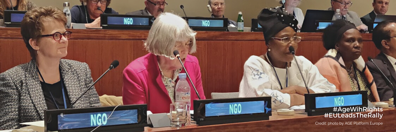 AGE Members at UN OEWG 2019