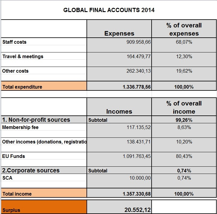Global final accounts 2014