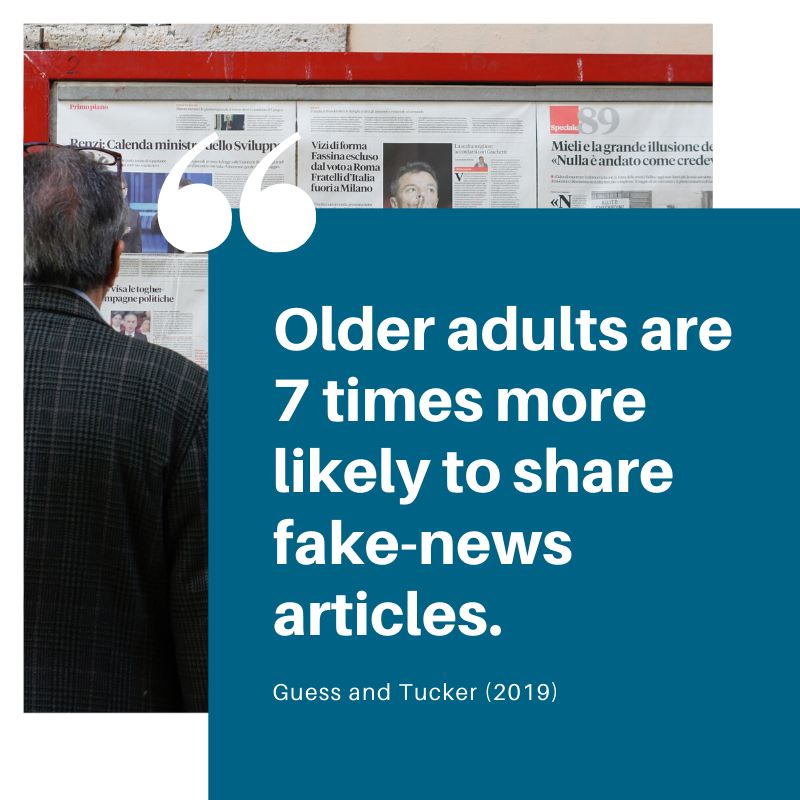 Older adults are 7 times more likely to share fake-news articles