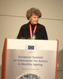 Heidrun speaking at Ageing Summit 2016