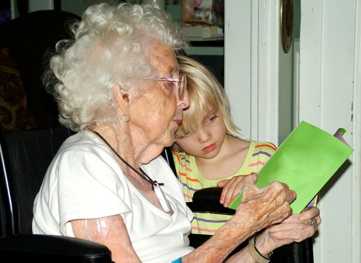 Reading-with-grandmother-in-wheelchair-Freeimages