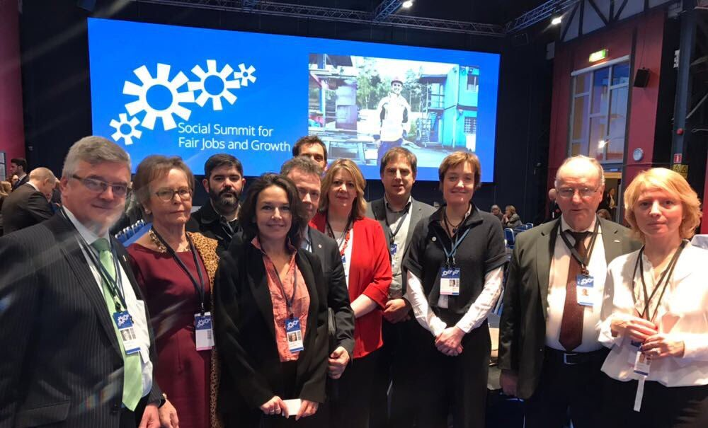 Social Platform delegation at EU Social Summit 2017