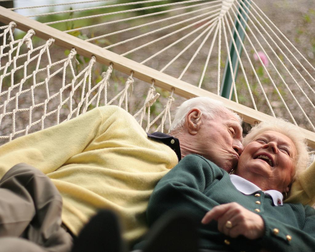 older couple in hammock