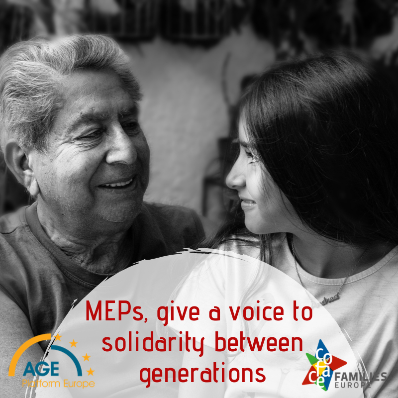MEPs, support dialogue between generations!