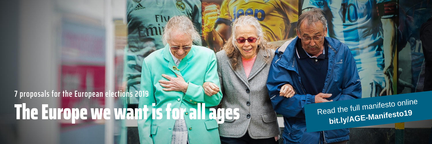 European Parliament elections 2019 banner for AGE campaign